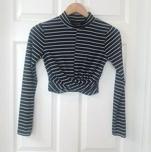 Sexy Topshop Long Sleeve Crop Top!